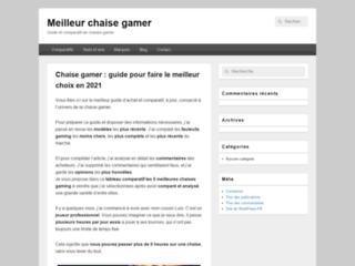 Détails : Meilleure chaise gamer