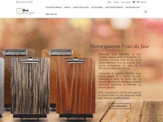 Détails : Boutique de menus pour restaurant