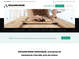 Détails : RICHARD BOIRE MENUISERIE, entreprise de menuiserie à Surville, près de Lisieux