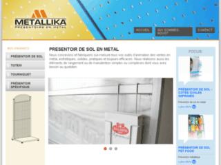 Détails : Metallika, présentoir de sol en metal
