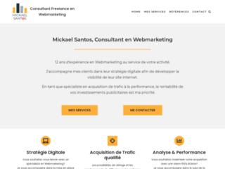 Consultant Webmarketing Freelance - Mickael Santos