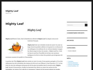 Détails : Mighty Leaf: Vente de thé vert, noir, blanc en sachet ou en vrac