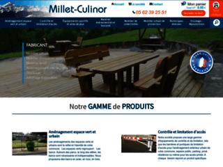 Millet CULINOR : fabricant de mobilier urbain et équipement pour collectivité
