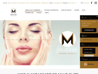 Maquillage permanent pas cher Marseille Miss M