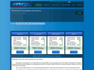Détails : MNX Hosting, hébergement web en Algerie
