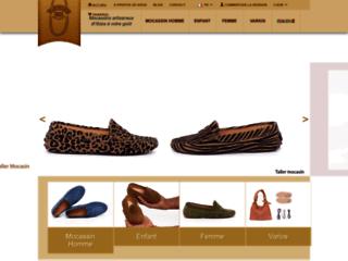 Détails : L'atelier du mocassin, vente en ligne de mocassins