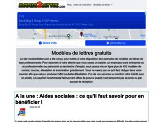 Détails : Modèles de lettres gratuits