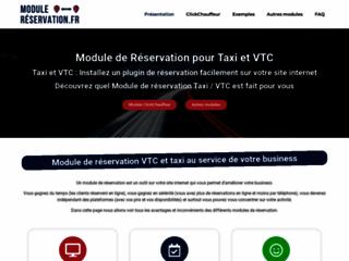 Commande des modules de réservation pour VTC et taxi