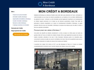 Détails : MON CREDIT A BORDEAUX, guide sur le financement immobilier à Bordeaux