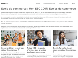 Mon ESC le site des écoles de commerce