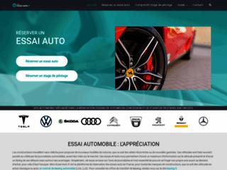 Détails : Réservation d'essai de voiture sur internet