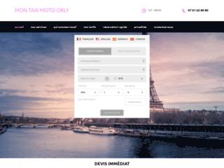 Mon Taxi Moto Orly, réservez votre taxi moto en ligne