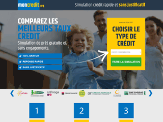 Détails : Mon Crédit : simulation de crédit sans justificatif
