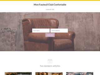 Mon fauteuil Club Confortable - Mon Fauteuil Club Confortable