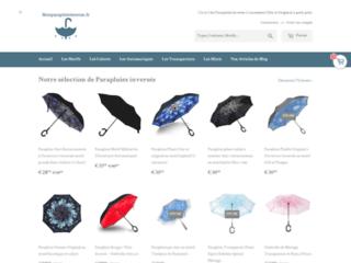 Vente en ligne des parapluies inversés et des ombrelles