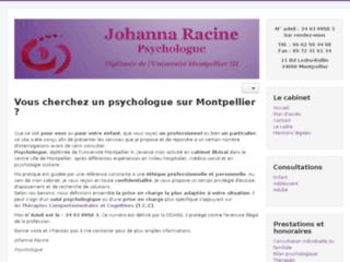 Détails : Johanna Racine, psychologue à Montpellier
