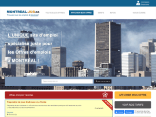 Détails : Montréal Job, offres d'emplois à Montréal