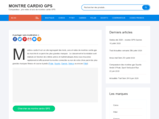 Comparateur de montre Cardio GPS