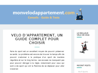Choisir un vélo d'appartement