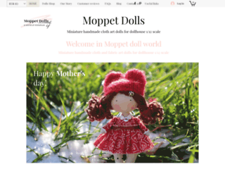 Moppet dolls - Small handcrafted fabric art dolls for dollhouse for decoration or collection