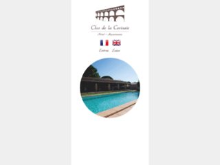 Hôtel Le Clos de la Cerisaie location appartements Castillon-du-Gard