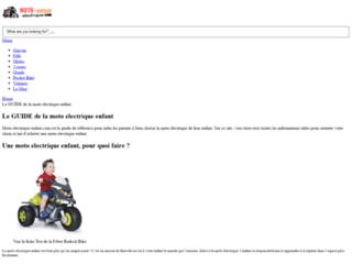 Détails : Une moto électrique pour enfant, c'est top