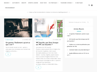 Site de communiqués de presse moderne
