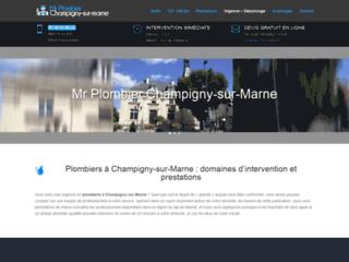 Les interventions en plomberie avec Mr Plombier Champigny-sur-Marne
