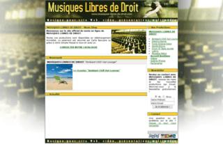 Le site des musiques libres de droit