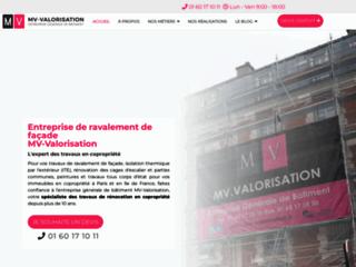 MV-Valorisation, entreprise de ravalement de façade à Paris