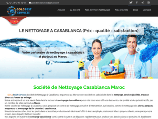 Détails : Goldbest Services, société de nettoyage et ménage à Casablanca