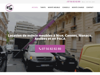 Location de monte charge à Nice