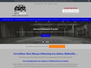 Ferrailleur Nico Récup à Messimy-sur-Saône, Belleville