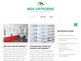 Annuaire et blog d'informations sur les opticiens