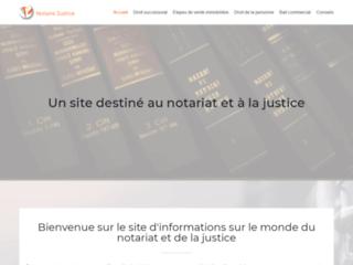 Site destiné au notariat et à la justice