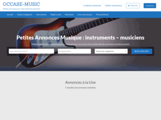 Annonces Musique, Instruments d'Occasion, Dépôt-Vente Musique