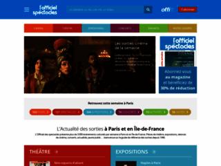 Détails : Sortir à Paris avec l'Officiel des spectacles