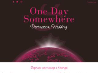 ONEDAY SOMEWHERE
