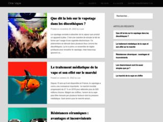 Détails : OneVape cigarettes électroniques