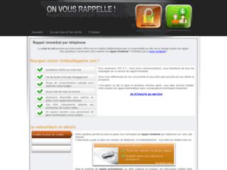 Détails : Web Callback
