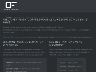 Détails : Voyages d'affaires en jet privé : Open Flight
