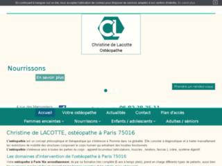 Ostéopathe à Paris 16