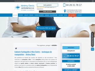 Détails : Jérémy Denis, soins ostéopathiques aux sportifs à Nice