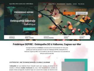 Frédérique DEPIRE : Ostéopathe DO à Valbonne, Cagnes-sur-Mer
