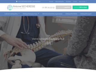 Ostéopathe à Montrouge - Antoine SECHERESSE