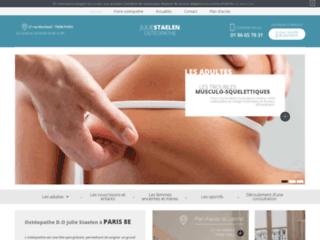 Ostéopathe D.O Julie Staelen à Paris 8e