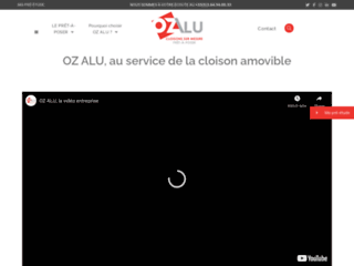 Détails : Oz Alu : conception et fabrication de cloison de bureau et vitrée