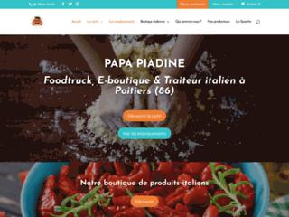 Papa Piadine food truck à Poitiers et épicerie italienne en ligne