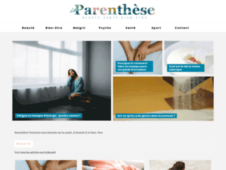 Détails : Parenthèse Tutoriels, la plateforme bien-être & beauté