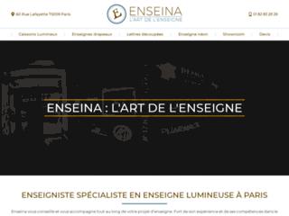 Détails : Enseigne Paris  signalisation led néon caisson lumineux